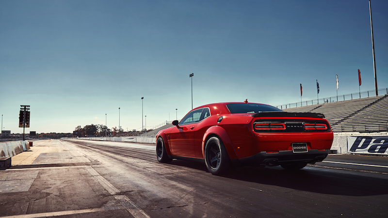 2018 Dodge Challenger SRT Demon strip launch