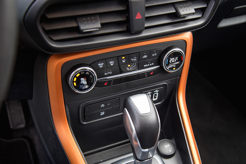 2018 Ford EcoSport orange interior