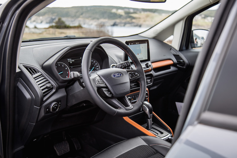 2018 Ford EcoSport interior steering wheel