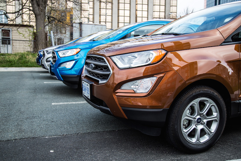 2018 Ford EcoSport orange blue silver