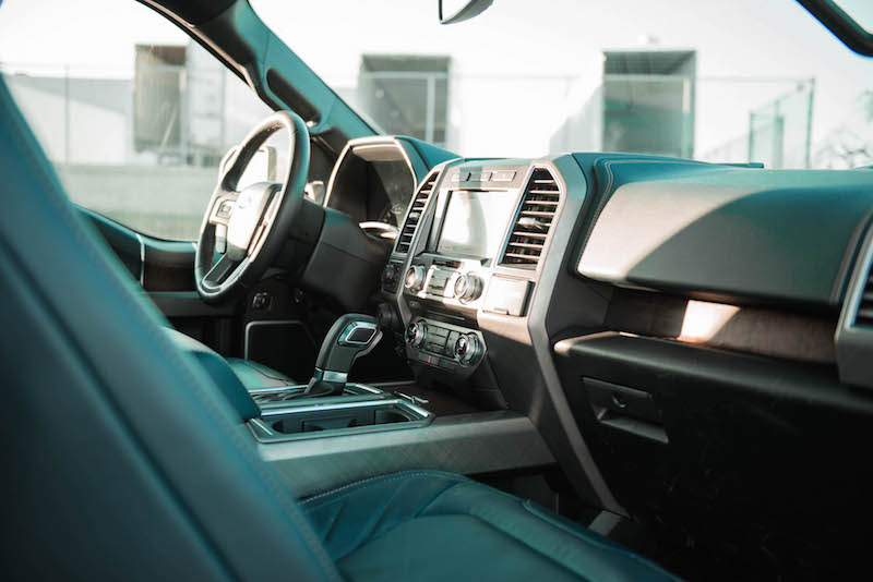 2018 Ford F-150 Limited interior blue