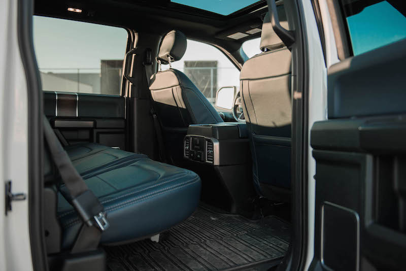 2018 Ford F-150 Limited rear seats