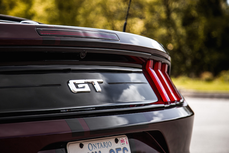 2018 Ford Mustang GT Convertible trunk badge