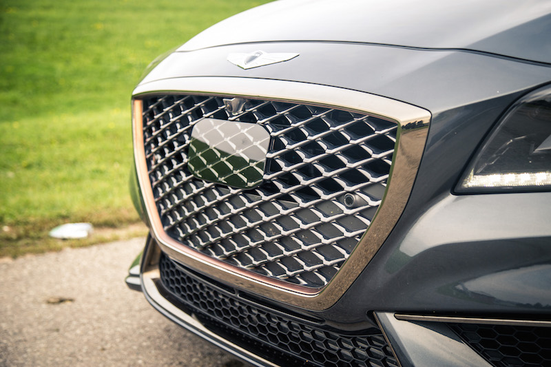 2018 Genesis G80 Sport copper front grill