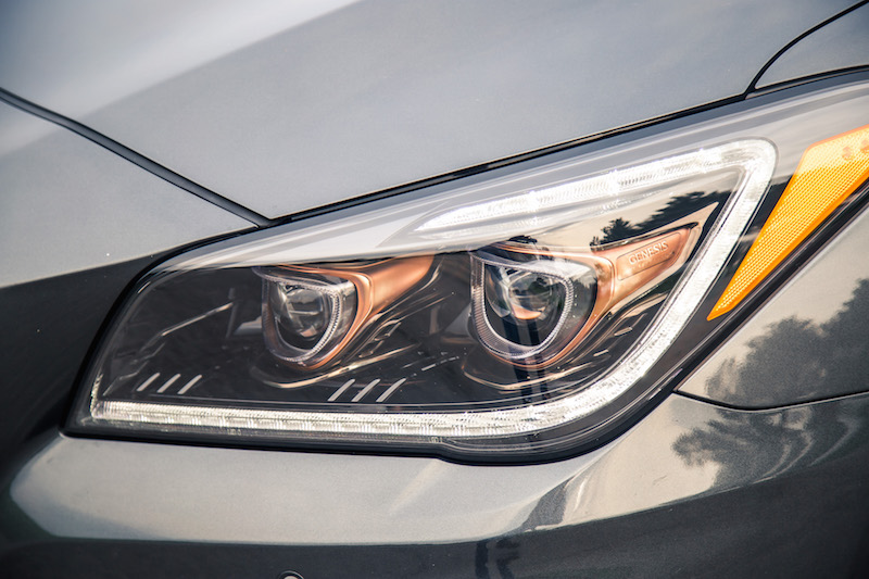 2018 Genesis G80 Sport copper headlights