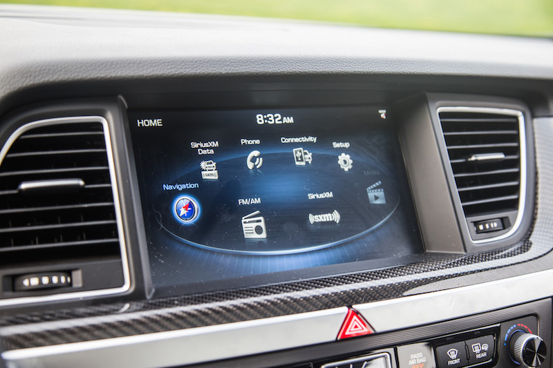 2018 Genesis G80 Sport infotainment screen display