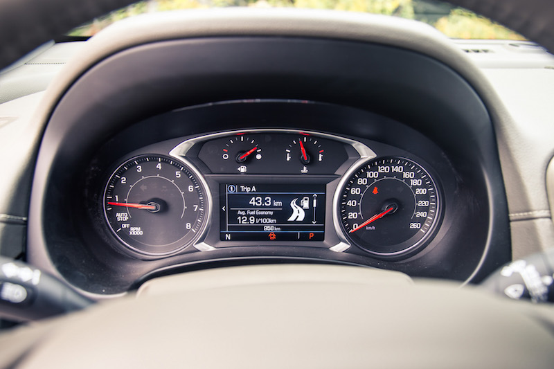 2018 GMC Terrain gauges