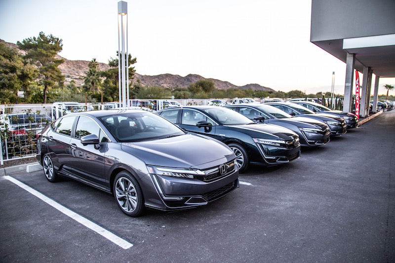 2018 Honda Clarity PHEV lineup paint colours