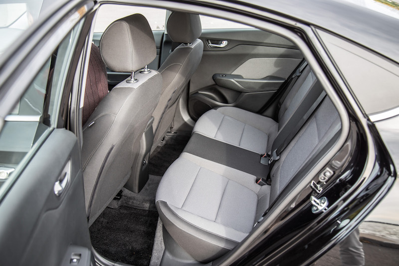 2018 Hyundai Accent new for this year2018 Hyundai Accent rear seats legroom