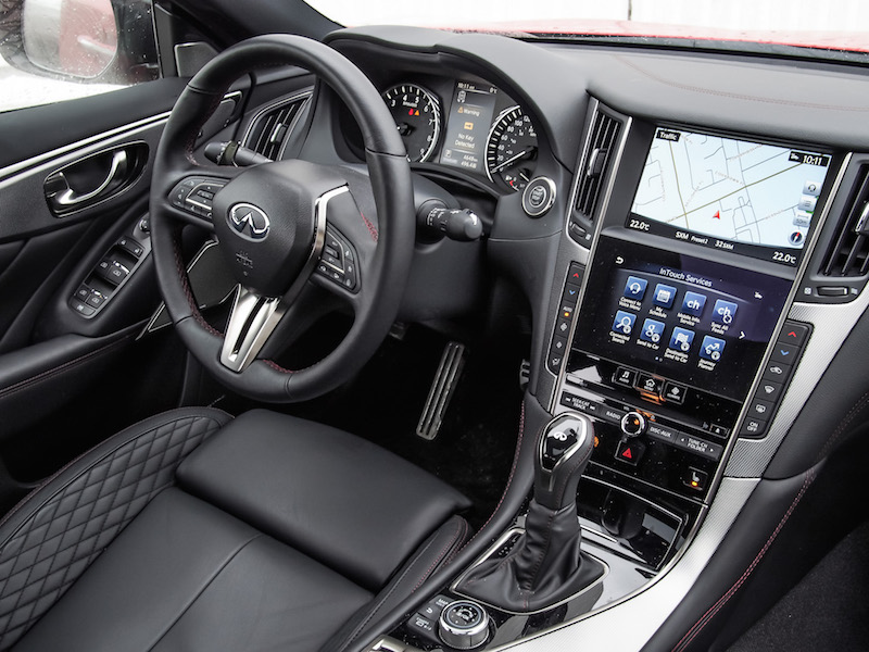 2018 Infiniti Q50 Red Sport 400 dashboard
