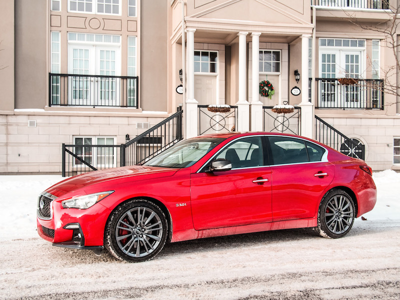2018 Infiniti Q50 Red Sport 400 wheels
