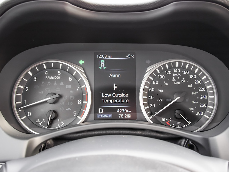 2018 Infiniti Q50 Red Sport 400 gauges