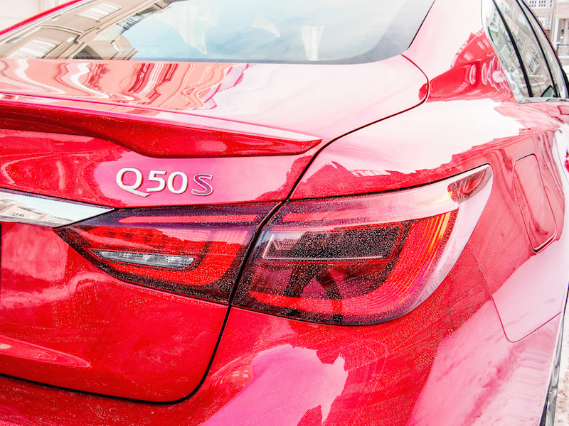 2018 Infiniti Q50 Red Sport 400 rear lights taillights