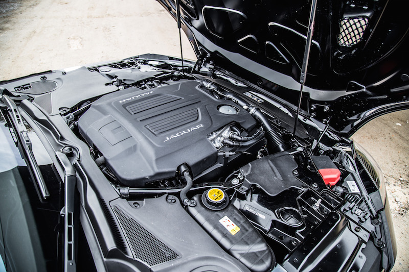 2018 Jaguar F-Type 400 Sport Coupe v6 engine bay
