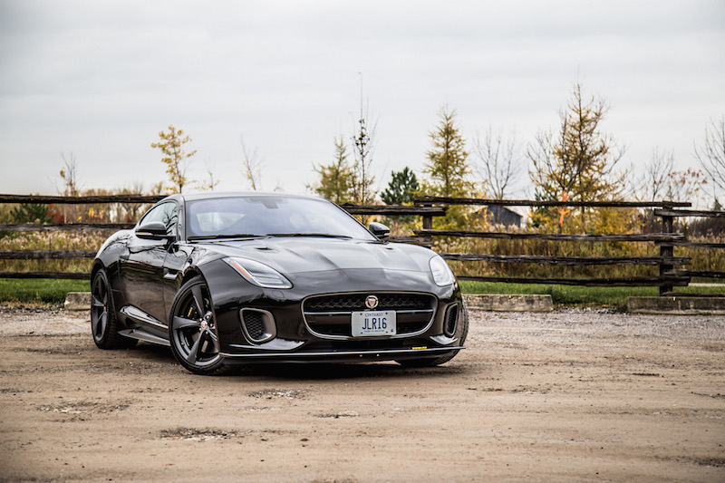 2018 Jaguar F-Type 400 Sport Coupe front quarter view
