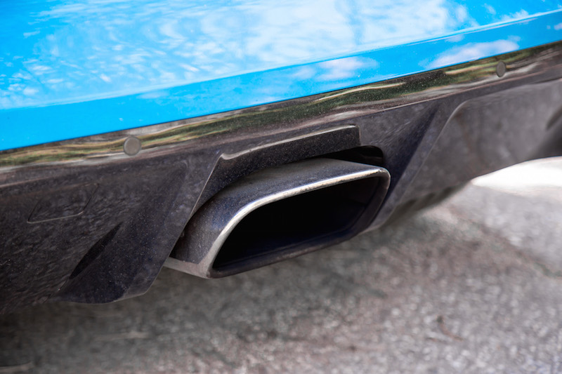 Jaguar F-Type four cylinder single exhaust pipe