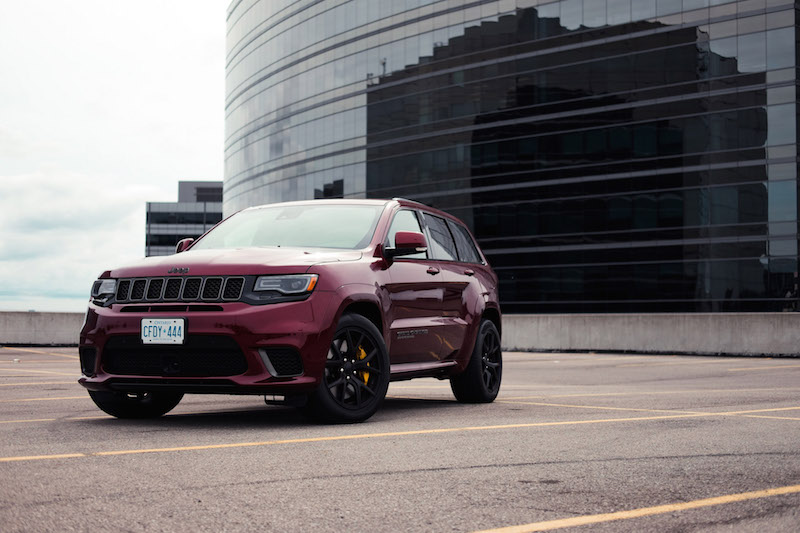Jeep Cherokee Trackhawk demonic red