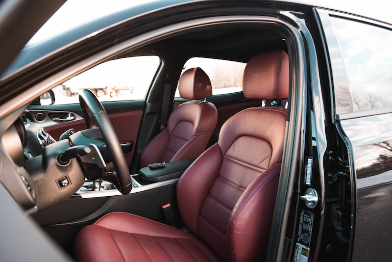 2018 Kia Stinger GT front leather seats