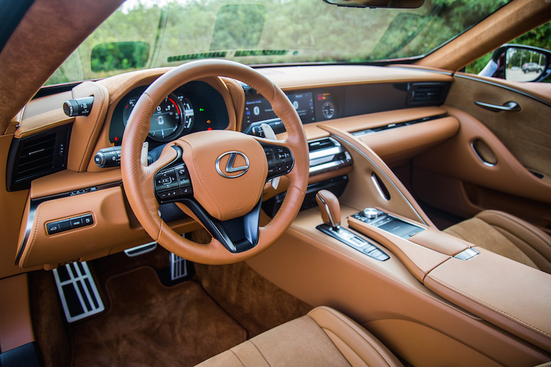2018 Lexus LC 500 ochre interior colour leather suede