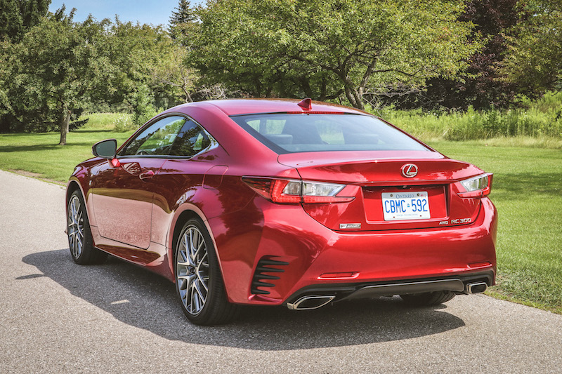 2018 Lexus RC 300 rear view