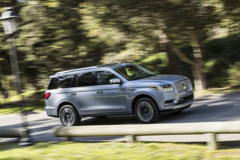 2018 Lincoln Navigator driving view