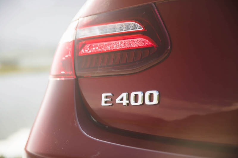 2018 Mercedes-Benz E 400 4MATIC Coupe rear badge