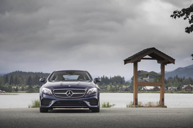 2018 Mercedes-Benz E 400 4MATIC Coupe blue front view