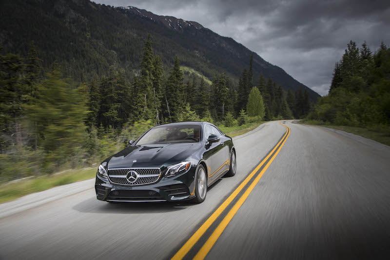 2018 Mercedes-Benz E 400 4MATIC Coupe green driving
