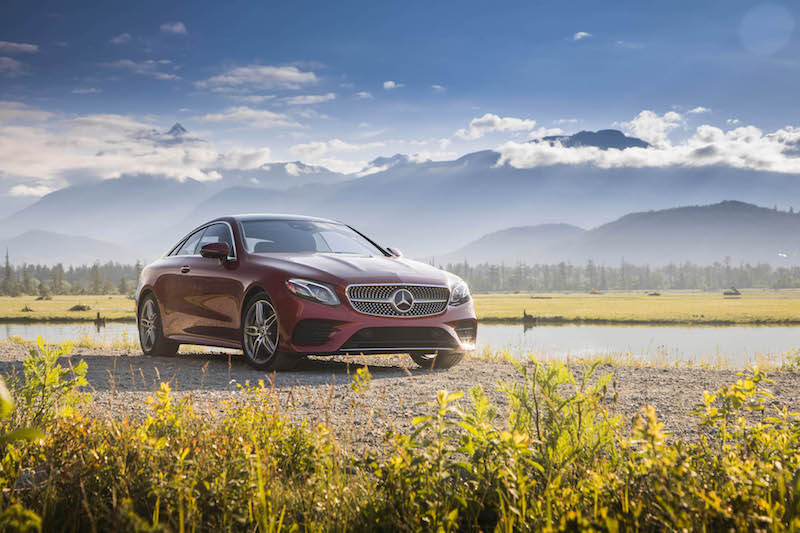 2018 Mercedes-Benz E 400 4MATIC Coupe new used hyacinth red