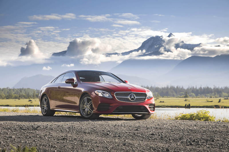 2018 Mercedes-Benz E 400 4MATIC Coupe hyacinth red