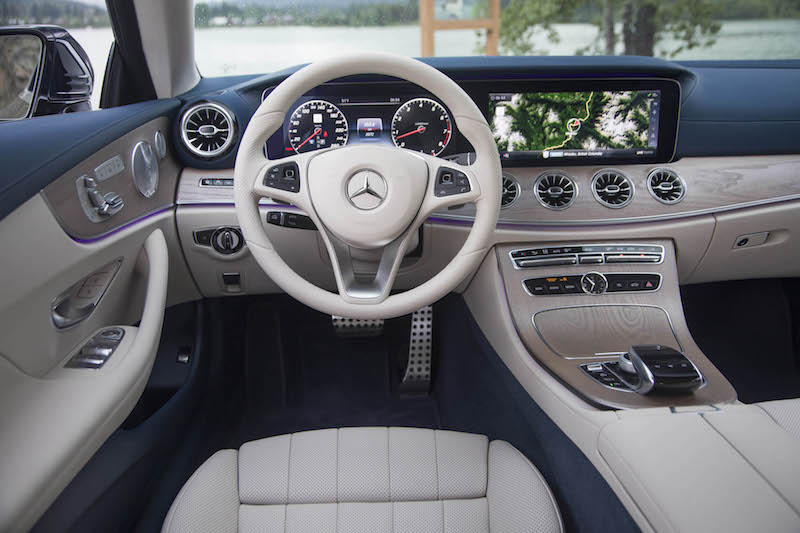 2018 Mercedes-Benz E 400 4MATIC Coupe beige interior steering wheel round