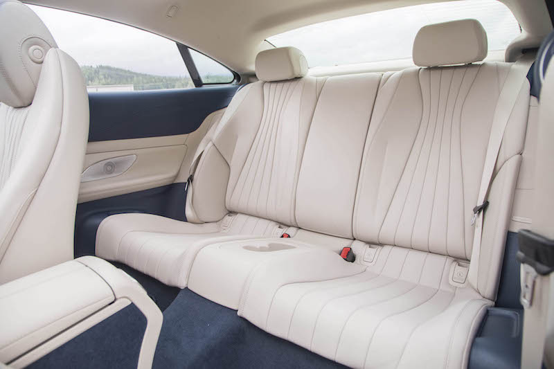 2018 Mercedes-Benz E 400 4MATIC Coupe rear seats