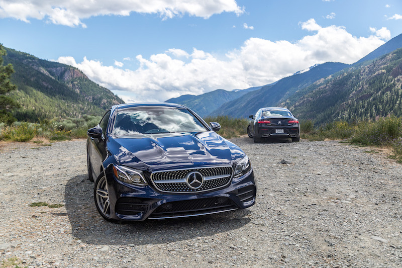 2018 Mercedes-Benz E 400 4MATIC Coupe front and back comparison