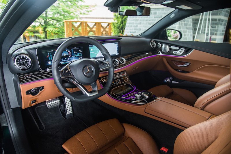 2018 Mercedes-Benz E 400 4MATIC Coupe black and saddle brown nappa leather