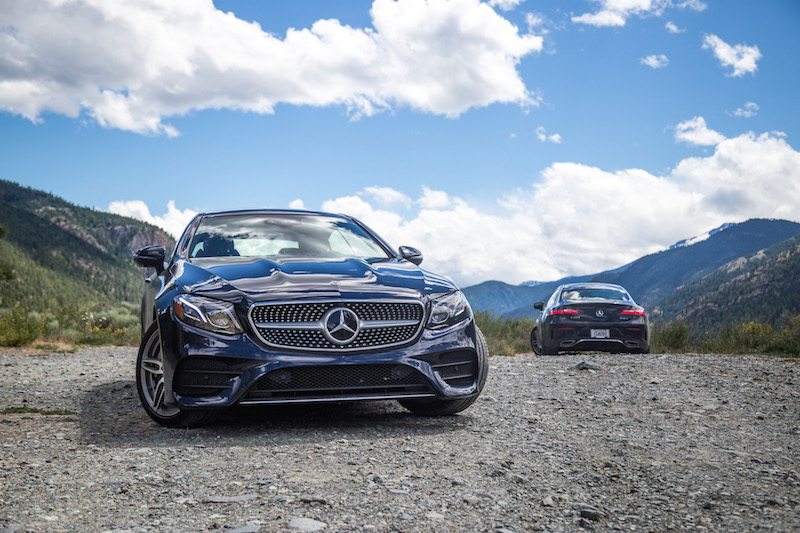 2018 Mercedes-Benz E 400 4MATIC Coupe whistler peaks mountains