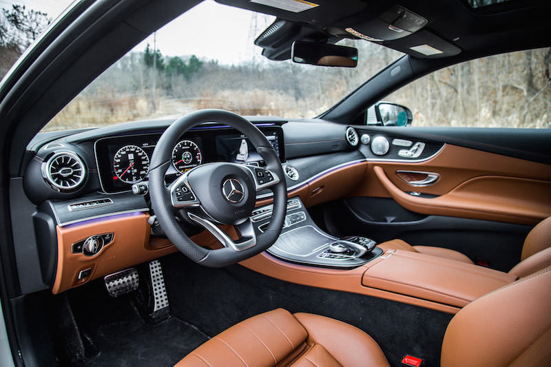 2018 Mercedes-Benz E-Class Coupe interior brown black