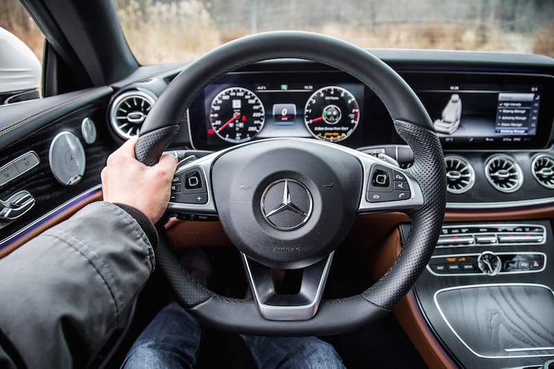 2018 Mercedes-Benz E-Class Coupe pov steering wheel view