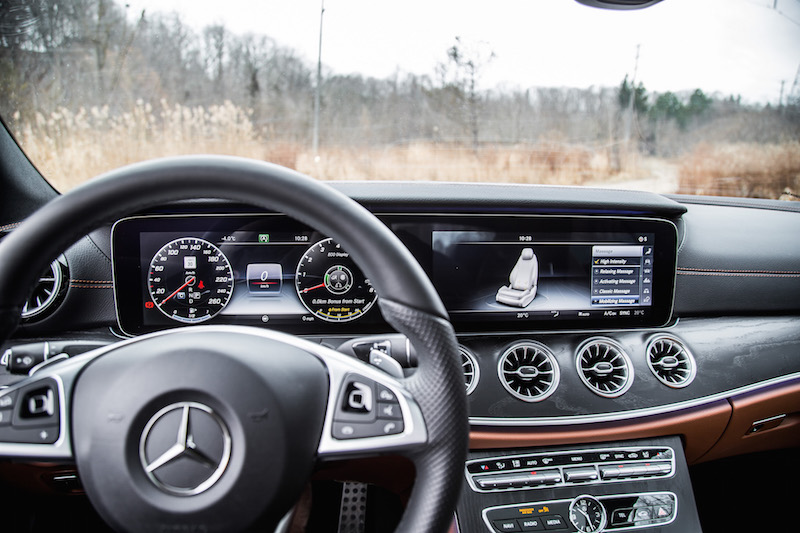 2018 Mercedes-Benz E-Class Coupe widescreen cockpit display