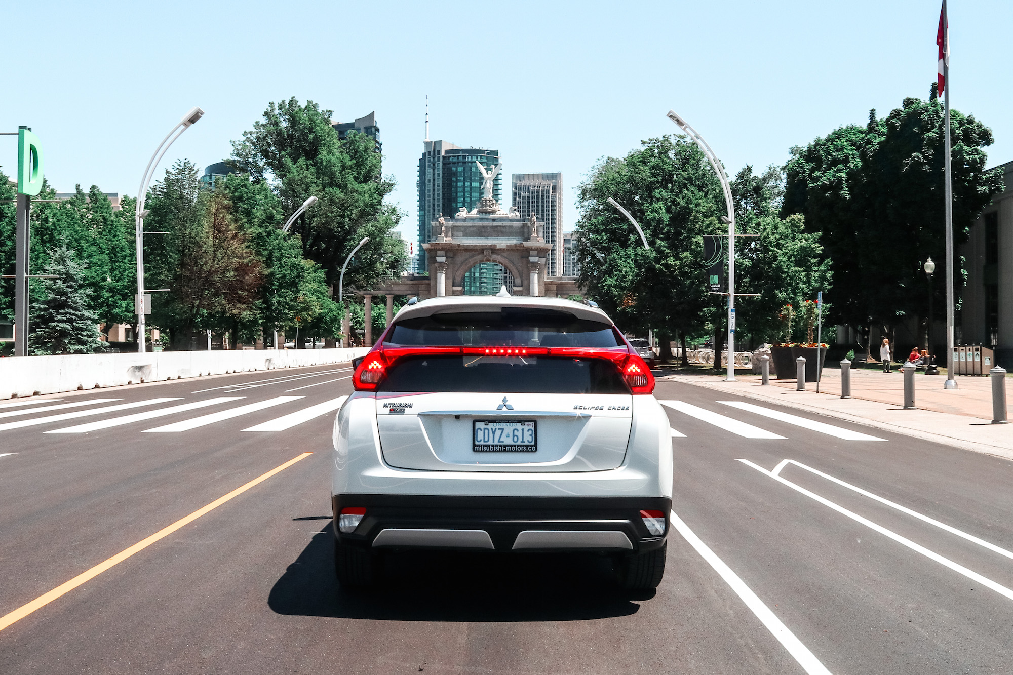 2018 mitsubishi eclipse cross rear view