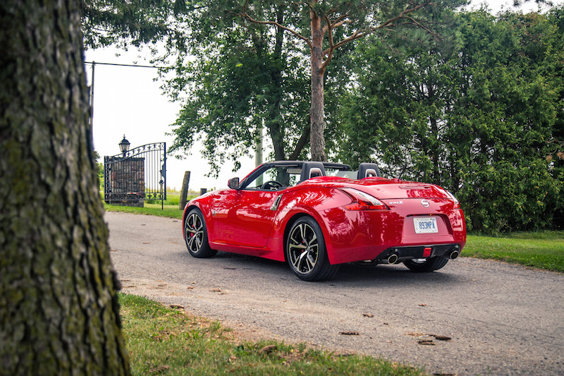 2018 Nissan 370Z Roadster Touring Sport rear view top down