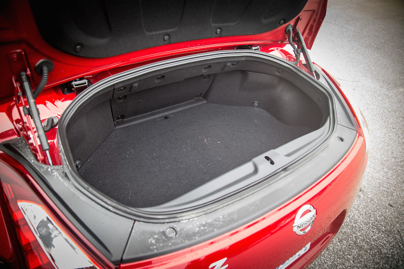 2018 Nissan 370Z Roadster Touring Sport trunk space cargo