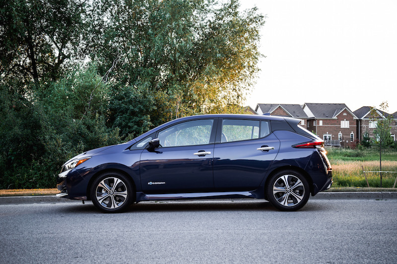 2018 Nissan LEAF SL side view fully loaded