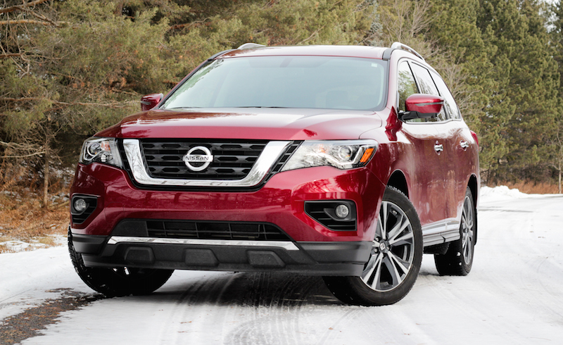 2018 Nissan Pathfinder canada red