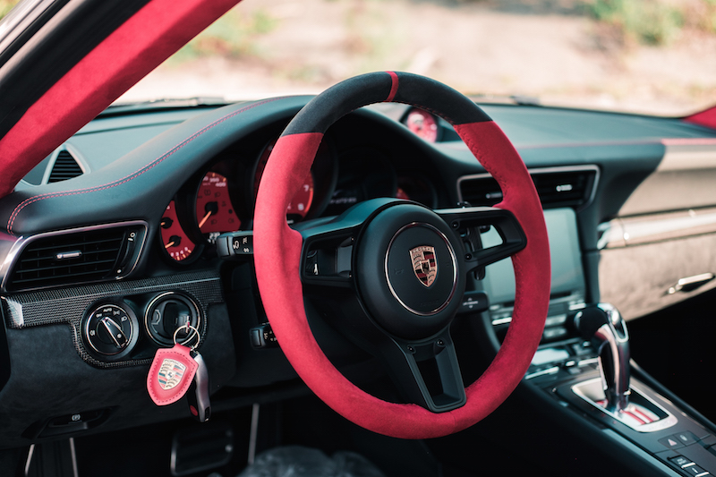 2018 Porsche 911 GT2 RS red steering wheel