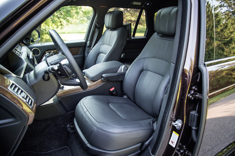 2018 Range Rover new wider front seats