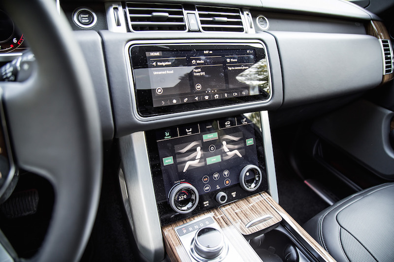 2018 Range Rover infotainment screens incontrol touch pro duo