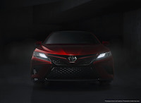 2018 Toyota Camry front view new head lights