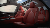 2018 Toyota Camry red front seats