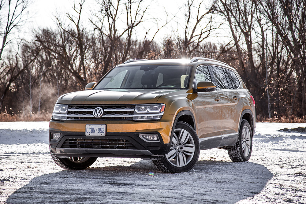 2018 Volkswagen Atlas Execline Kurkuma Yellow paint canada review