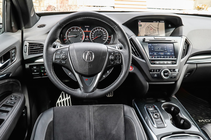 2019 Acura MDX A-Spec black interior